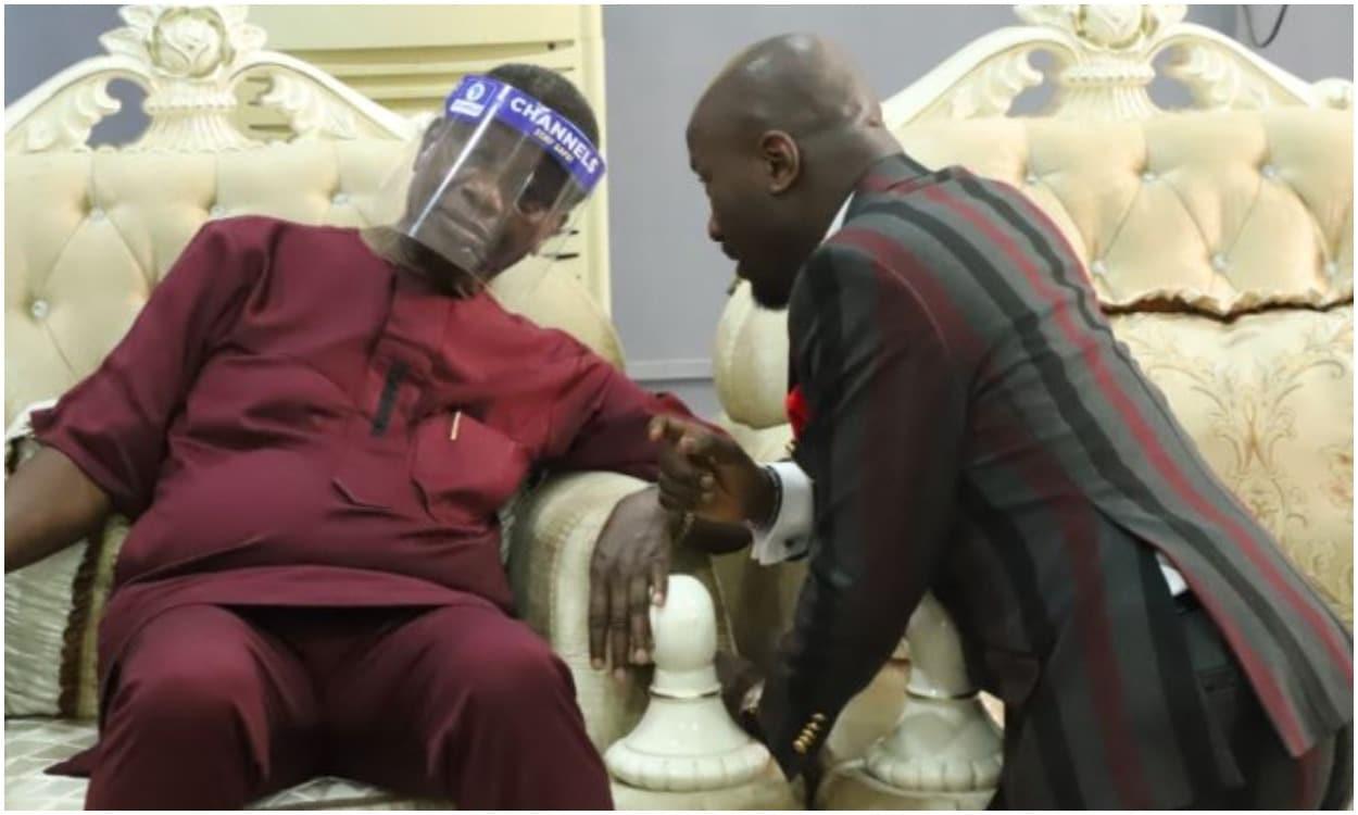 Apostle Johnson Suleman celebrates Adeboye