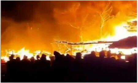 Huge fire outbreak at gwarinpa tipper market