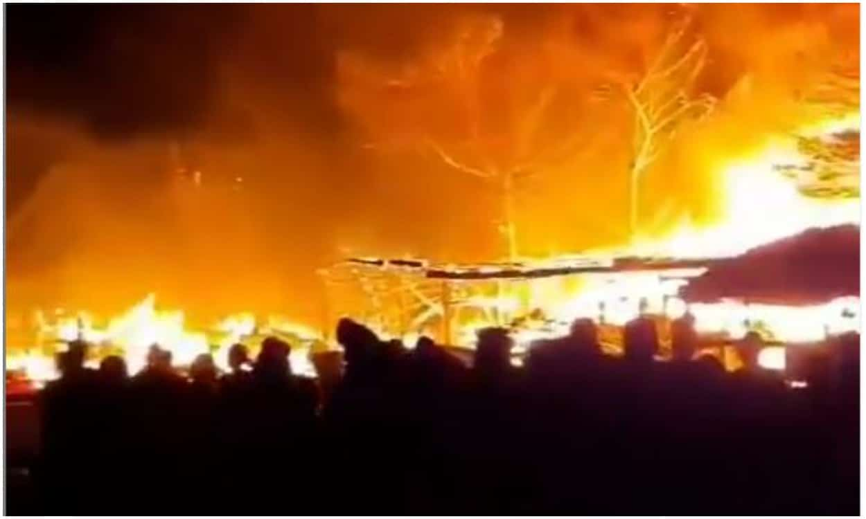 Huge fire outbreak at gwarinpa tipper market