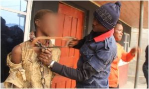 Teenage girl chained by mother freedTeenage girl chained by mother freed