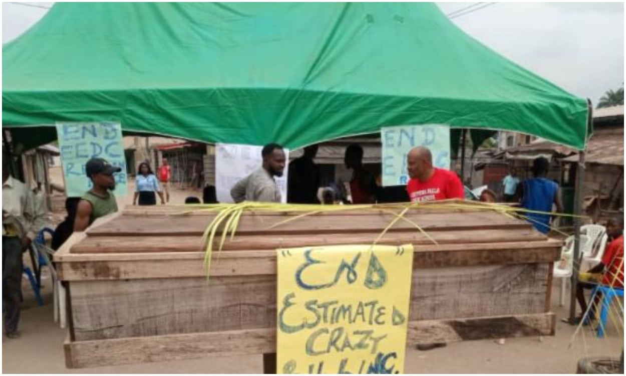 Abia community protests high electricity bill