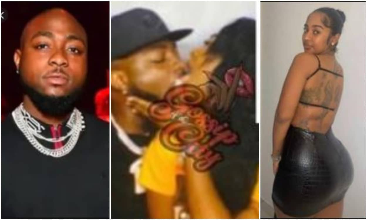 Davido and new girlfriend all loved up