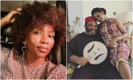 Genevieve Nnaji celebrates Pete Edochie