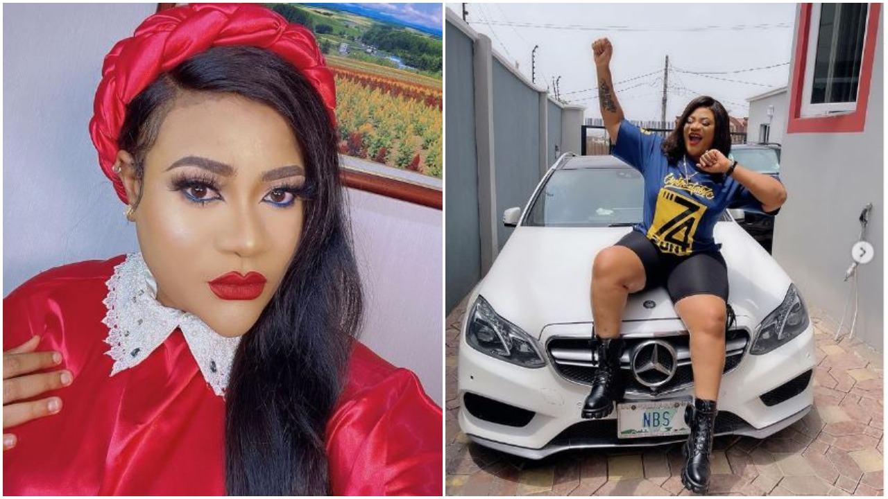 Nkechi Blessing and car