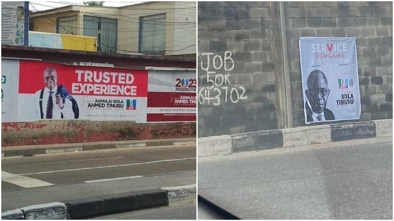 Tinubu campaign posters