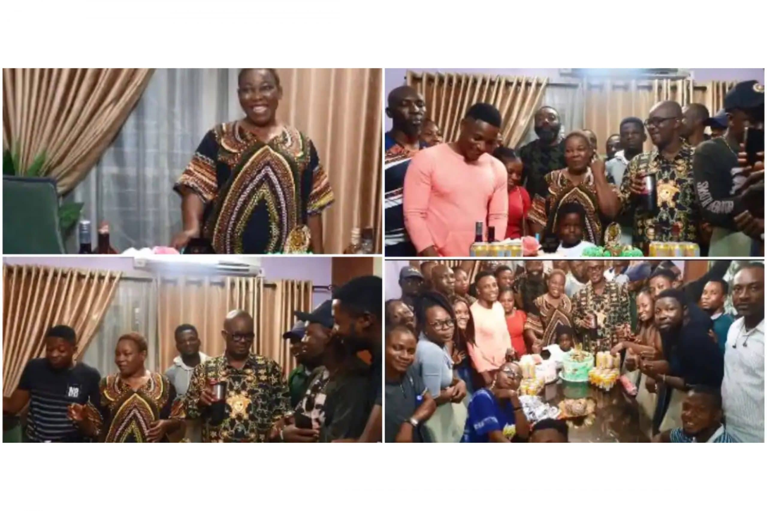How cast and crew members on The Johnsons surprised actress Ada Ameh on her 47th birthday