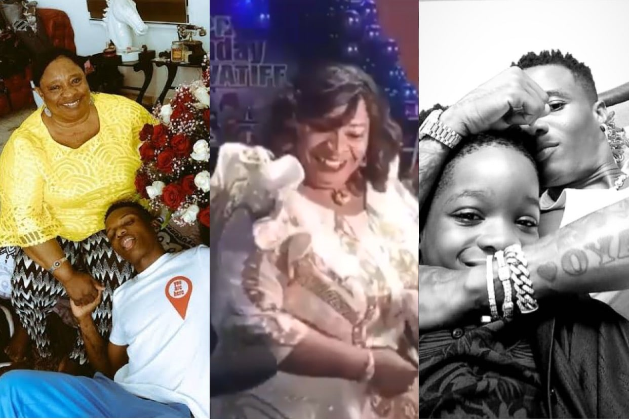 The moment Wizkid's mother scattered the dancing floor with her 'shaku shaku' dance during Tife's 10th birthday