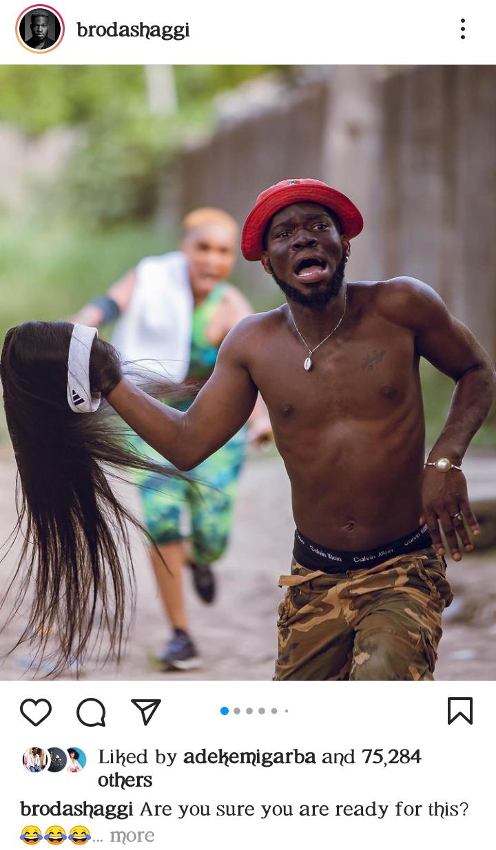 Photos of Iyabo Ojo and Broda Shaggi is sparking reactions