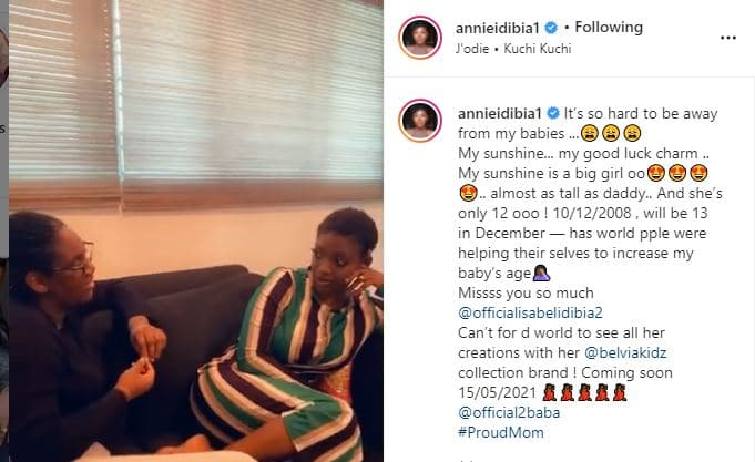 Annie Idibia question the sanity of a troll who advised her to keep her daughter away from Ned Nwoko