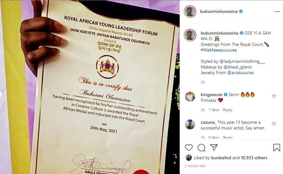 Bukunmi Oluwasina Royal award » Naijabulletin