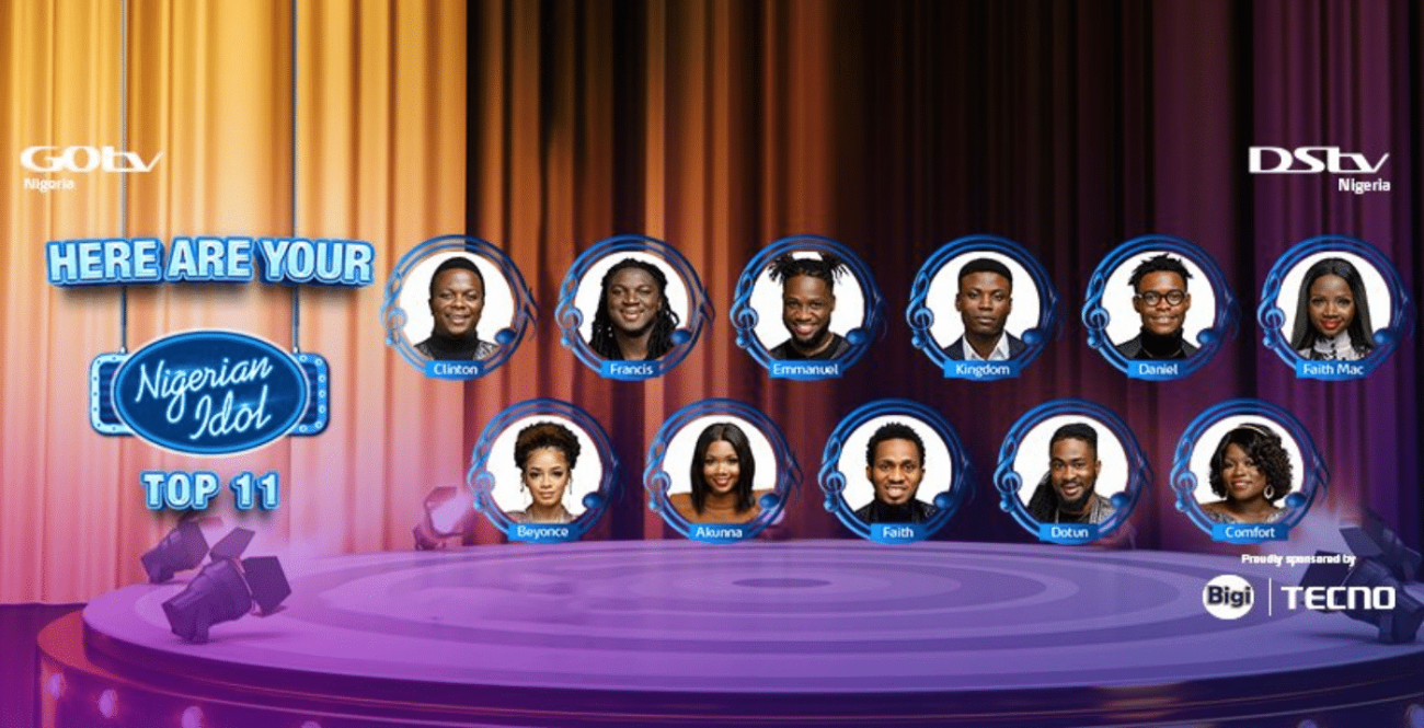 Nigerian Idol top 11