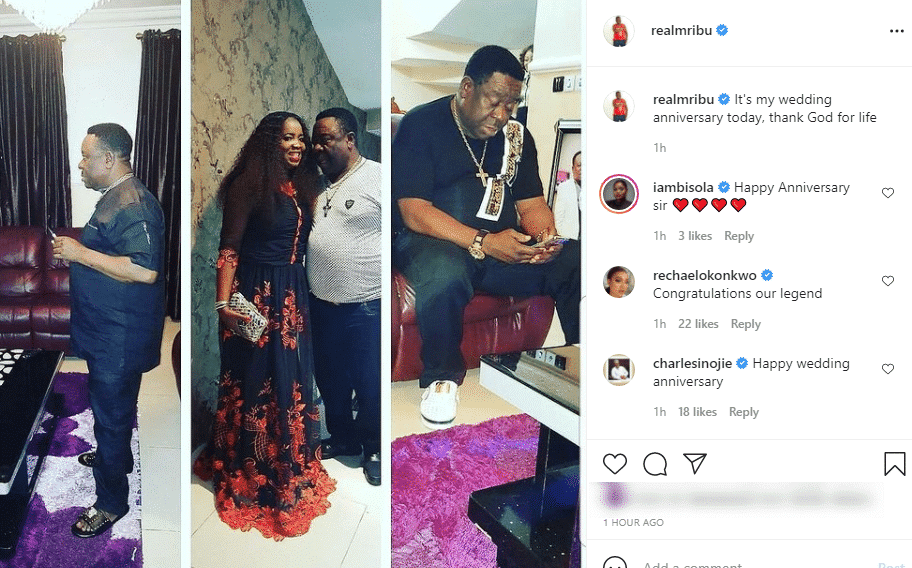 Actor, Mr Ibru and wife celebrate 11th years wedding anniversary