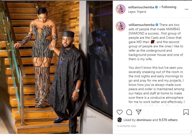 My wife sneaked out 0f bedroom at night Williams Uchemba says