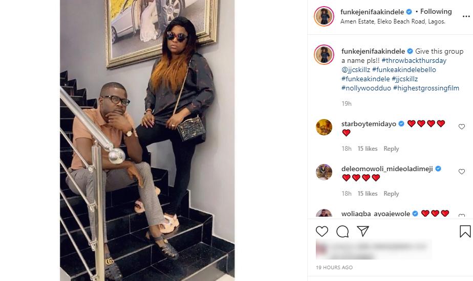 Fans gives Funke Akindele and her husband a new name
