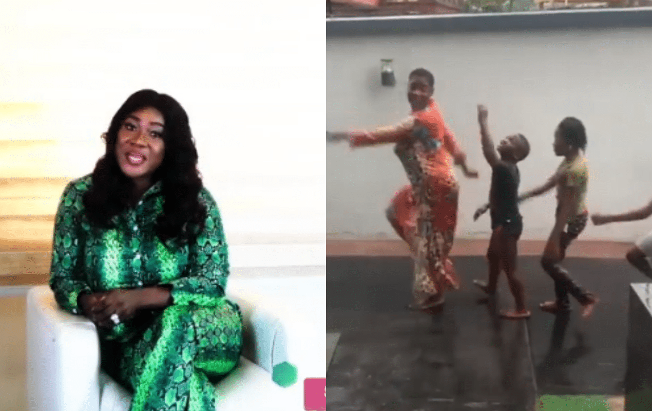mercy johnson and kids play