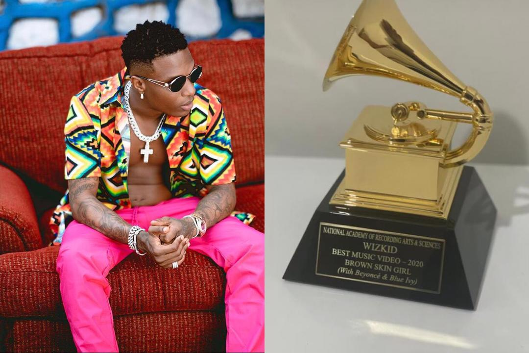 Wizkid Grammy plaque
