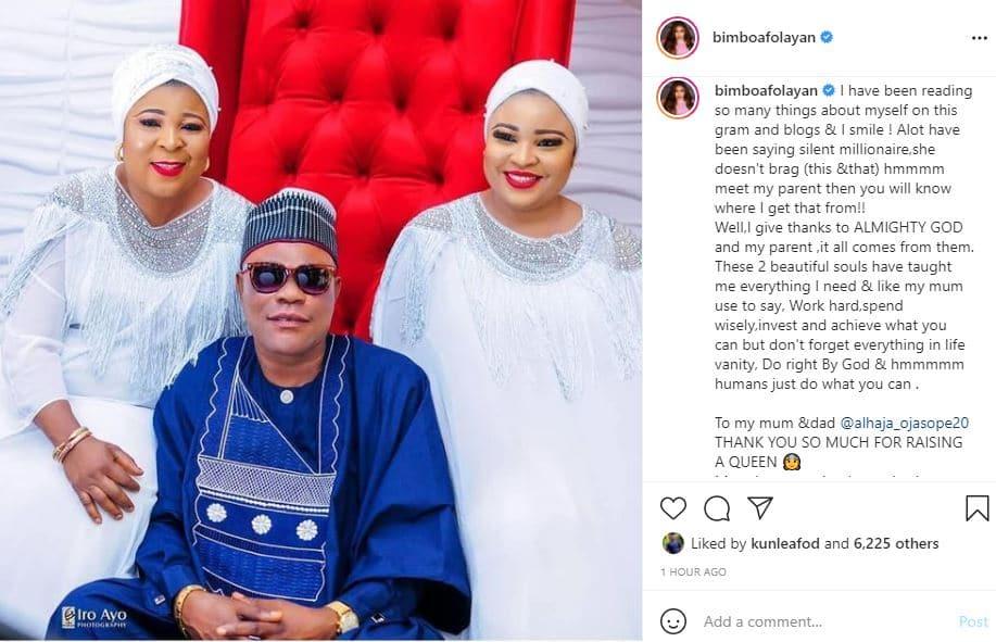 Bimbo Ogunnowo celebrates her parents