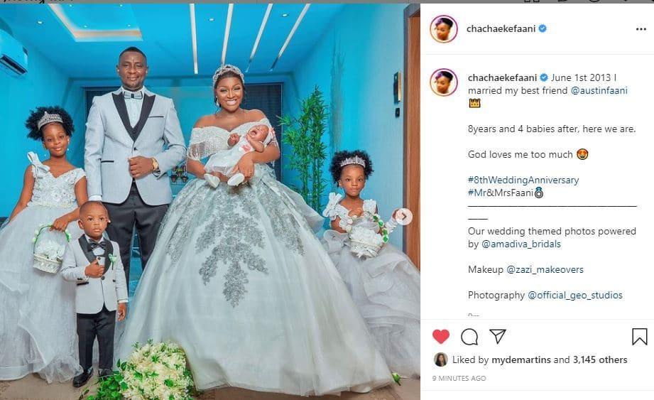 ChaCha Eke wedding anniversary