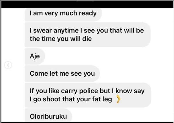 Actress Eniola Badmus cries out over death threats