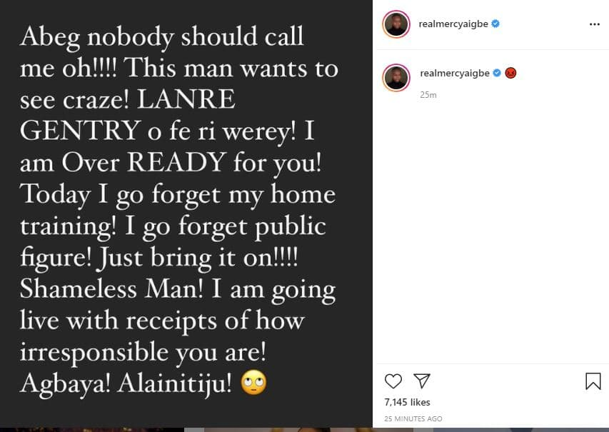 Mercy Aigbe blasts ex-husband Lanre Gentry over threat to spill dirty secrets about her
