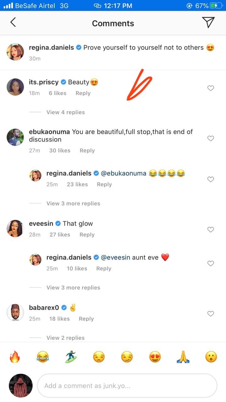 Regina Daniels shares new photos