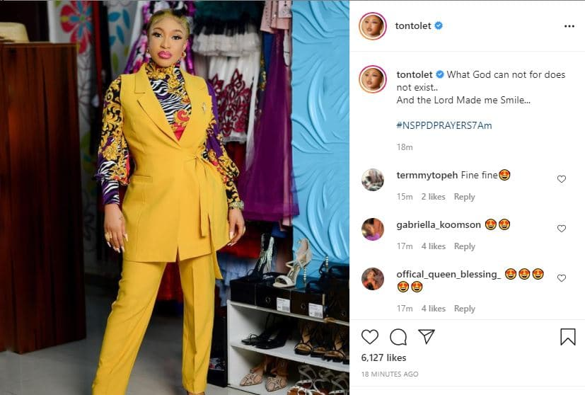 Actress Tonto Dikeh for the first time, speaks on relationship with politician boyfriend