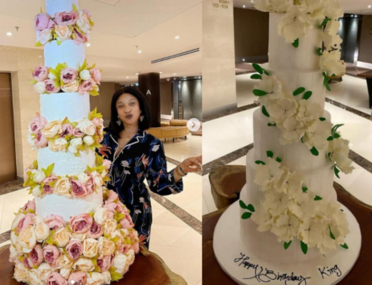 Tonto Dikeh's 36th birthday cakes