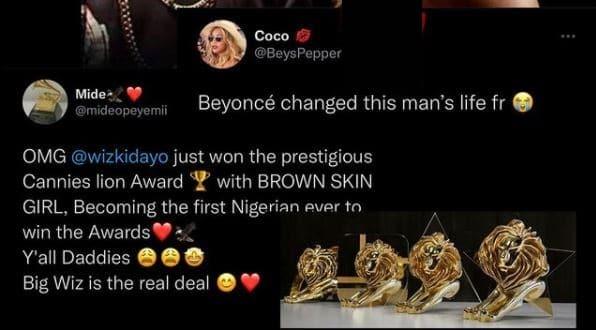 Wizkid and Beyoncé