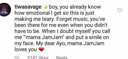 Tiwa Savage and Wizkid's relationship