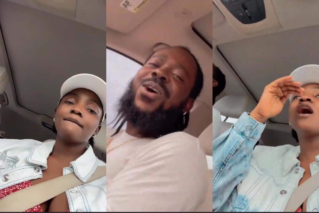 Watch Adorable Video Of Adekunle Gold & Simi Composing A Song For Their 'Crying' Daughter In A Car