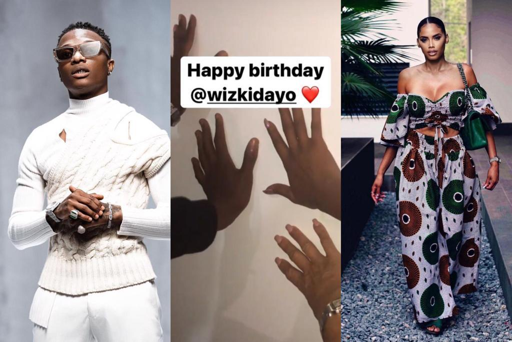 adorable moment Wizkid babymama & family prayed for him before waking up on his birthday