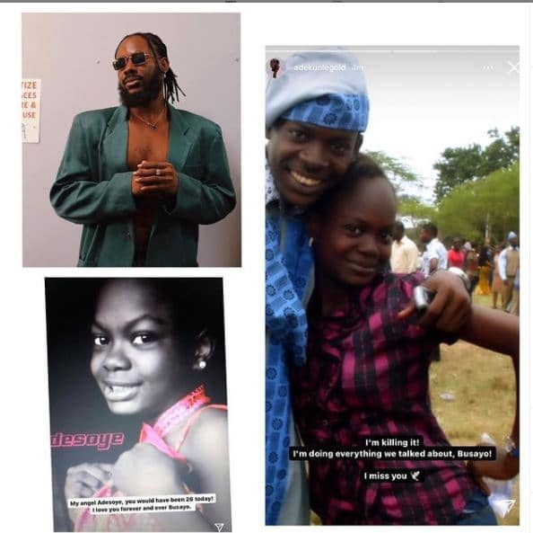 Adekunle Gold mourns late sister, who died of heart failure