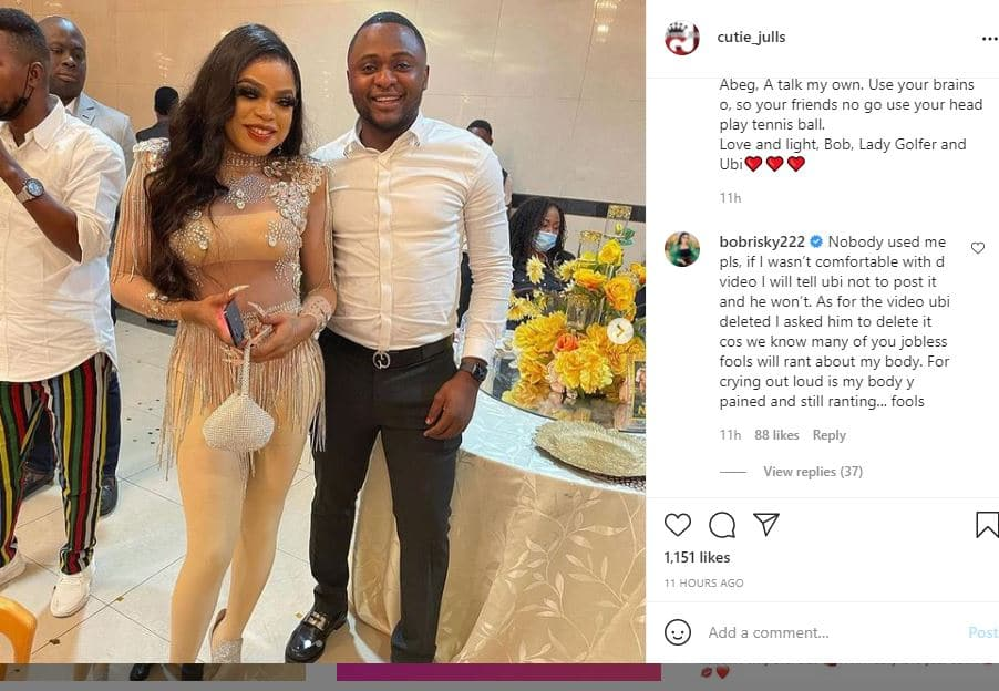 Bobrisky reacts to speculations of being used after Ubi Franklin exposed his lies