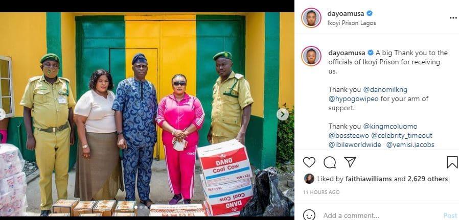 Dayo Abusa visit prisoners