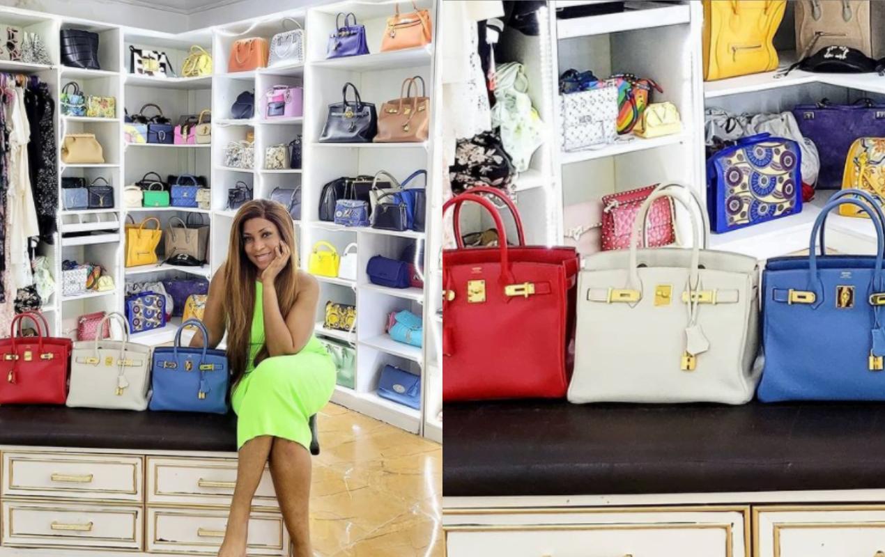 Linda Ikeji Hermes bags