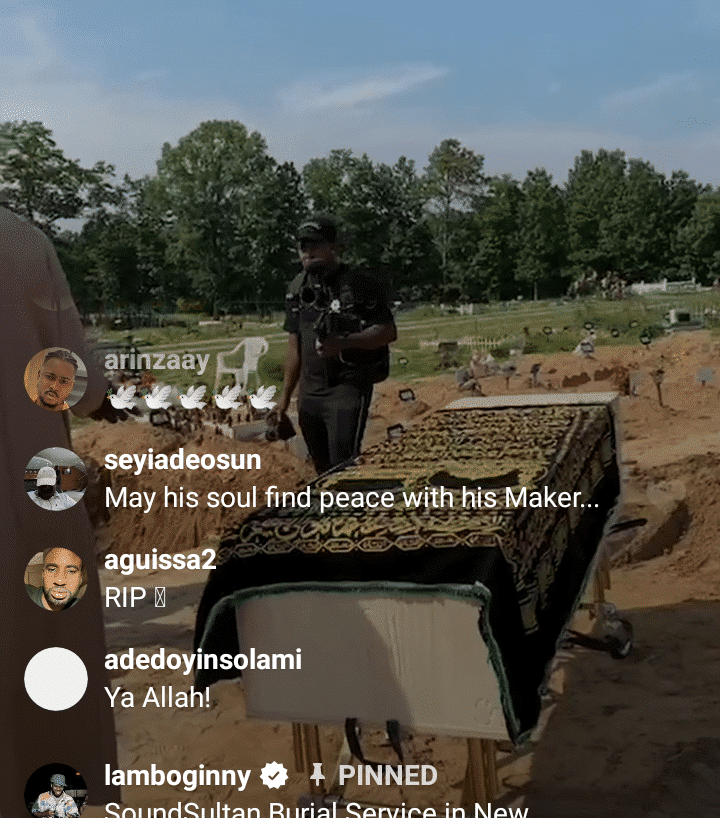 Live photos from Sound Sultan's ongoing burial