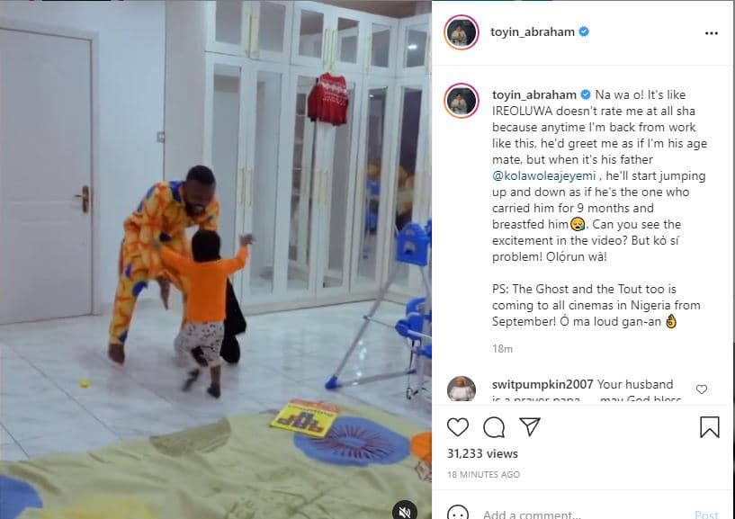 Toyin Abraham lament bitterly over his son's attitude towards her