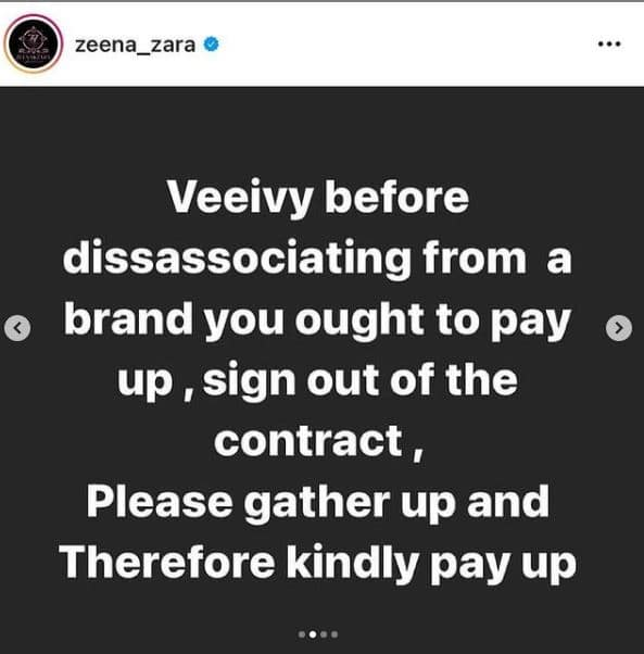 Fashion brand calls out BBNaija's Vee for owing N1.9m..