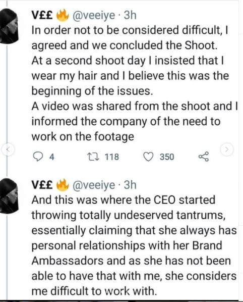 Vee and fashion brand