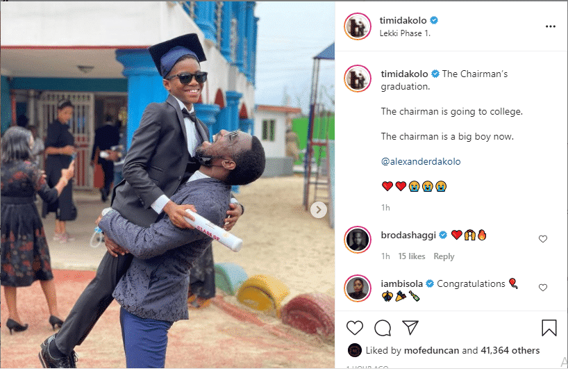 Timi Dakolo shares beautiful photos from his son's graduation party