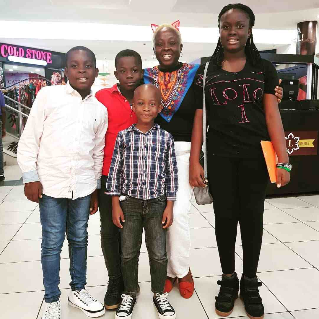 Lolo 1 shows off her lovely kids