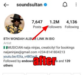 Sound Sultan gains 100K Instagram followers hours