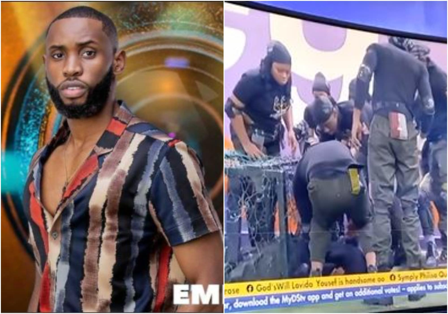 BBNaija housemate Emmanuel sustains injury