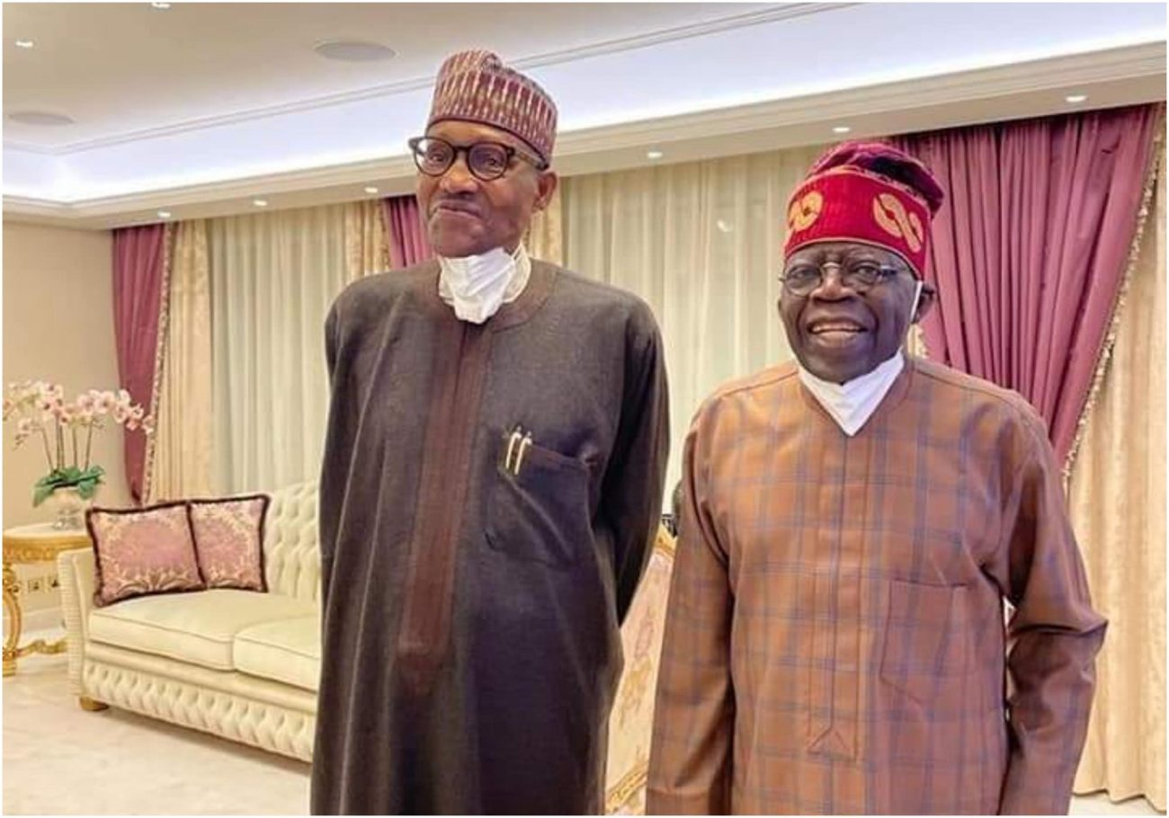 Buhari visits Tinubu