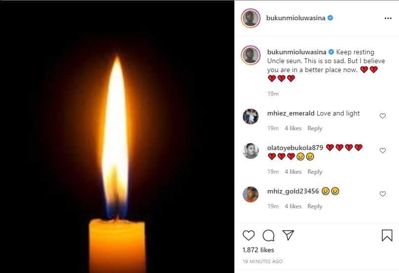 Bukunmi in deep sorrow