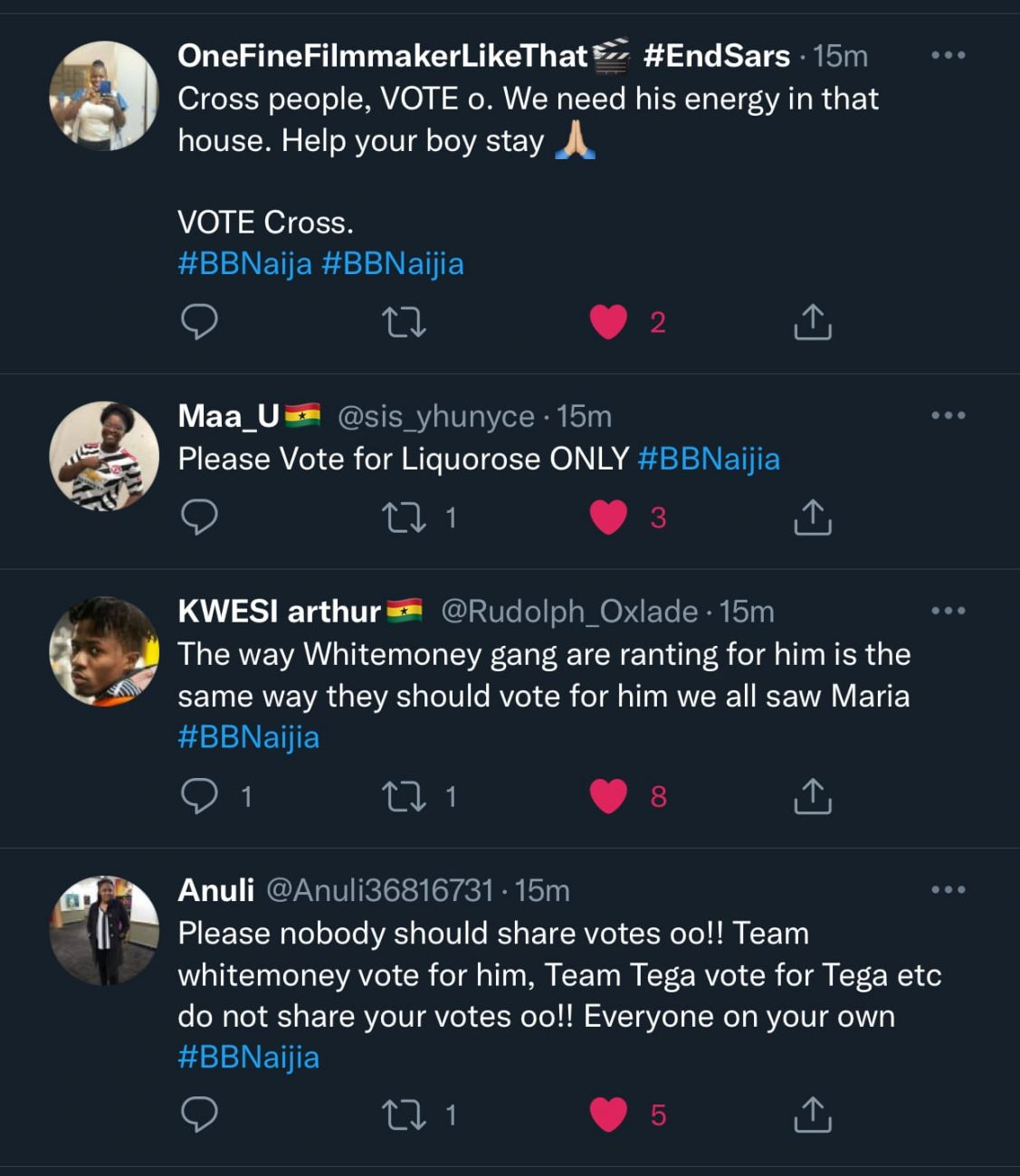 BBNaija: 'Don't share votes oh,' fans cries out as Biggie puts all housemates up for eviction