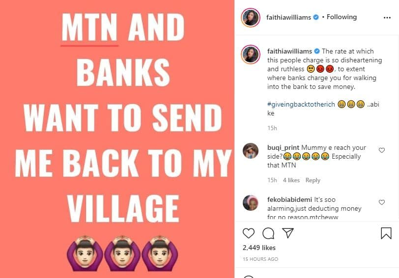 Actress Faithia Williams cries out 'They want to send me back to my village