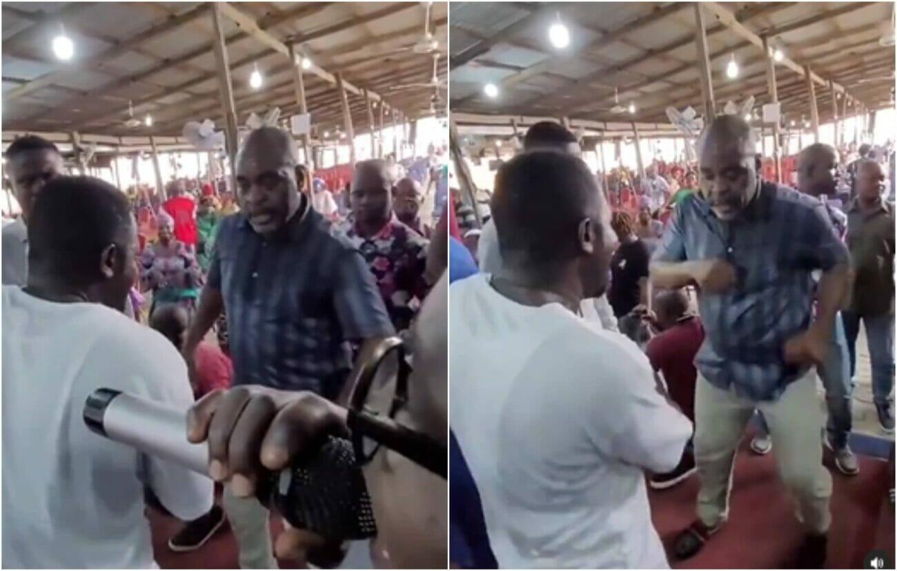 Funsho Adeolu dancing in church