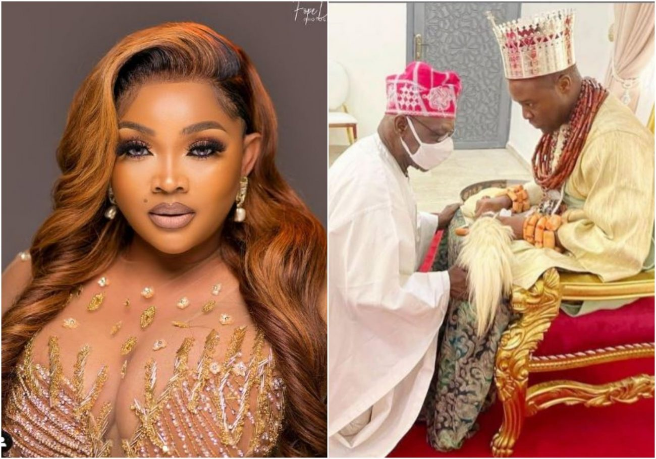 Mercy Aigbe and Obasanjo