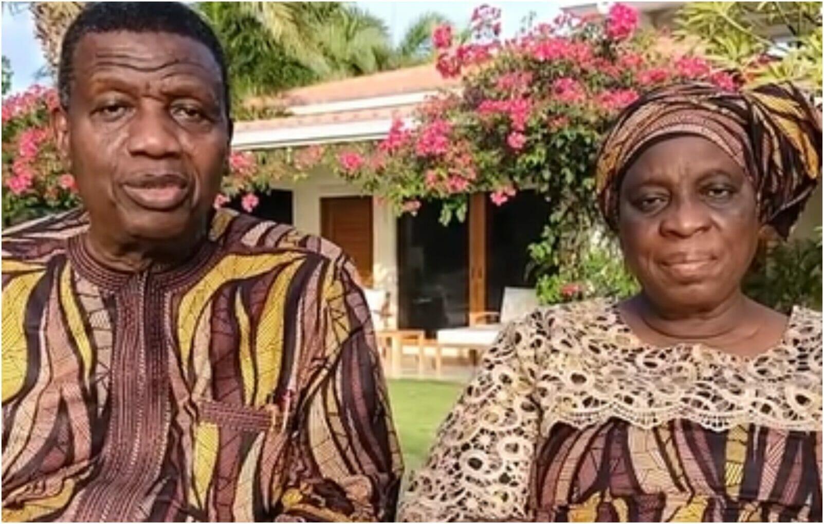 Pastor Adeboye and wife celebrate Nathaniel Bassey